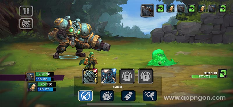Tải game Battle Chasers: Nightwar cho iOS